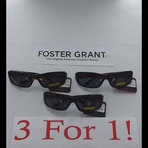 NWT Foster Grant Blue Tinted Polarized Black Frame